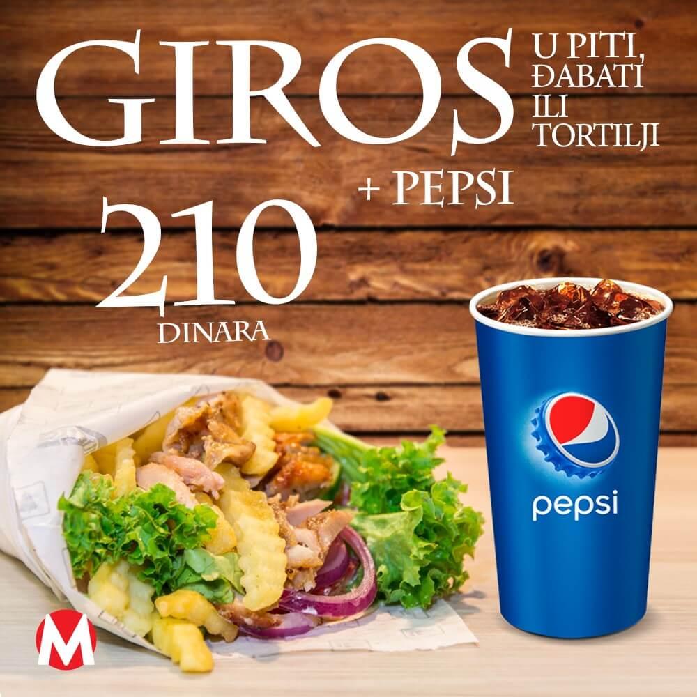 Akcija Giros +Pepsi - Minuta Novi Sad