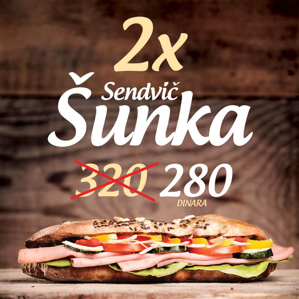 2x sendvic sunka - Minuta Novi Sad
